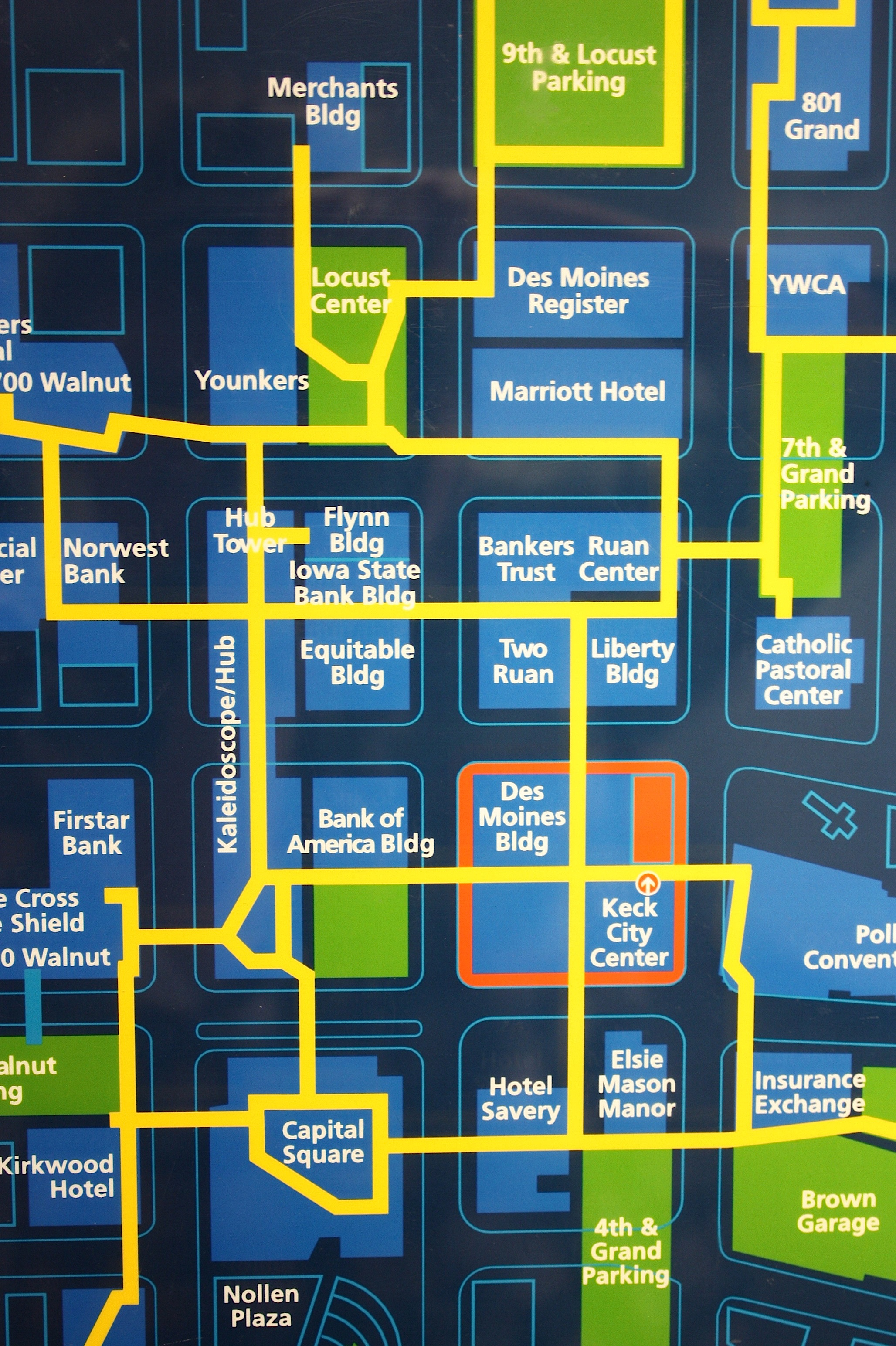 Des Moines Skywalk Map Des Moines Skywalks | Iowa Girl on the Go
